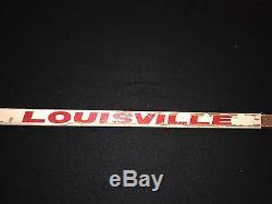 Bob Probert Signé Red Wings De Detroit Jeu Utilisé Louisville Tps Bâton Jsa Loa