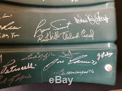 Boston Red Sox Signés Fenway Park # 9 Jeu D'occasion Seatback 21 Autographs Mlb Cert