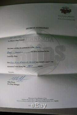 Brad Radke Jeu Signé Jersey A Utilisé Minnesota Twins Mn Dédicacé Usé Auto Mn