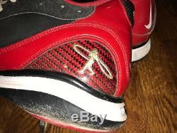 Brandon Phillips Signe Nike Swingman Jeu D'occasion Crampons Psa Adn Cincinnati Reds