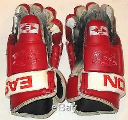 Brendan Shanahan Signé Jeu Gants Usagés Usés (1997-1998) Detroit Red Wings