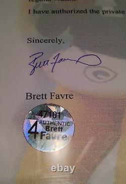 Brett Favre Jeu Us Used Signé Packers NFL Football Jersey Bf Loa Hof Sb XXXI
