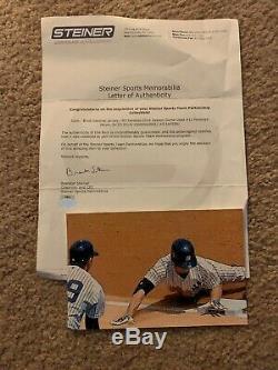 Brett Gardner Portés Jeu Anciens Et D'occasion Yankees Accueil Jersey Mlb Steiner Holo