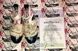 Brian Dawkins Autographed Jeu Utilisé Worn Crampons Loa Philadelphia Eagles Broncos