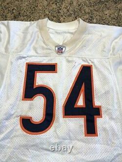 Brian Urlacher Signé Jeu Utilisé 14/09/03 Chicago Bears Jersey 12 Tackles Beckett