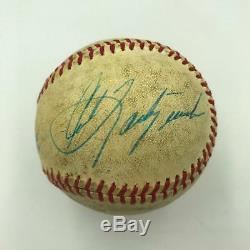 Carl Yastrzemski Signé Vintage Jeu Utilisé Ligue Américaine De Baseball Avec Jsa Coa