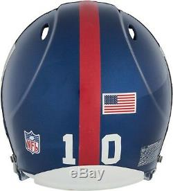Casque De Giants De New York Avec Jeu Signé Signé Eli Manning Avec Steiner Match Coa