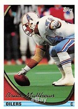 Casque Signé Utilisé Par Bruce Mathews Houston Oilers # 74 De La Saison 1994
