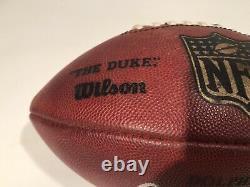 Chad Pennington Autographié Miami Dolphins Jeu Utilisé Football NFL Marshall