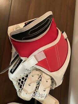 Chicago Blackhawks Game Used Vêtement De Gardien De But Signé Collin Delia Rockford Icehogs