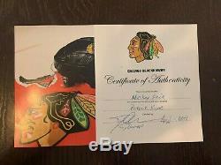 Chicago Blackhawks Patrick Kane Jeu Utilisé Signé Bâton LNH (# 88 Autographié)