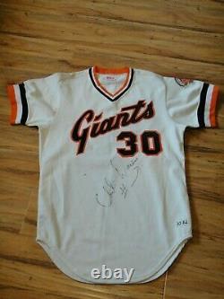 Chili Davis Jeu Utilisé Worn 1982 Jersey San Francisco Giants Rookie Autographié