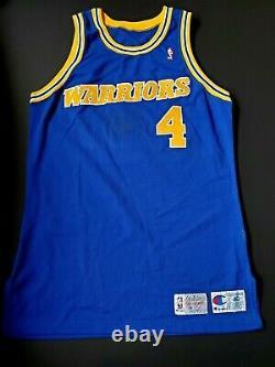 Chris Webber Golden State Warriors Signé Rookie Jeu D'occasion Jersey Mullen Loa