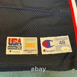 Christian Laettner Jeu Utilisé Signé 1992 Olympics Team USA Uniforme Jersey Jsa