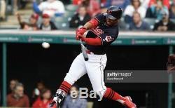 Cleveland Indians Francisco Lindor Signé 2016 Jeu D'occasion Uncracked Marucci Bat