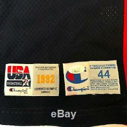 Clyde Drexler 1992 Team USA Dream Team Signé Jeu Utilisé Jersey Olympics Jsa Coa