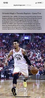 Danny Green Game Chaussures D'occasion Toronto Éliminatoire Worn Lakers Signé Raptors Vérifié