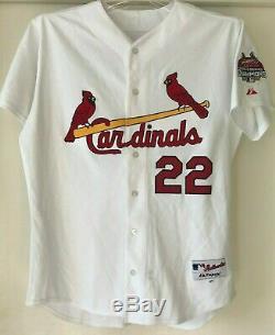 David Eckstein Jeu Signé - Jersey 2007 Cardinals De St. Louis Avec Loa