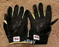 David Ortiz Jeu D'occasion Marucci Autographiés Gants Signée Frappeurs Loa Red Sox