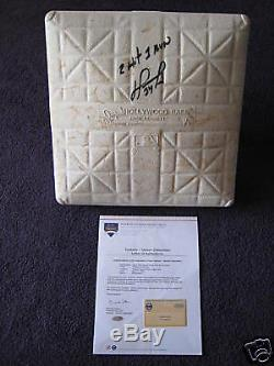David Ortiz @ Yankee Stadium A Signé Le Jeu Utilisé Base Steiner Loa, Mlb Mt00476015