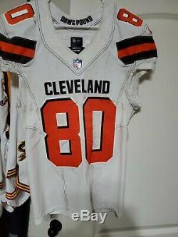 Dédicacée Jarvis Landry Jeu Jeu Utilisé Worn Cleveland Browns Jersey 16/09/2018