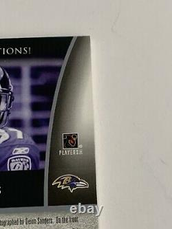 Deion Sanders 2005 Ud Exquise Jeu Utilisé Super Jersey Autograph /15 Ravens