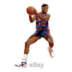 Dennis Rodman Jeu Utilisé Preuve Signée Sneakers Nba Pistons Détroit Usé