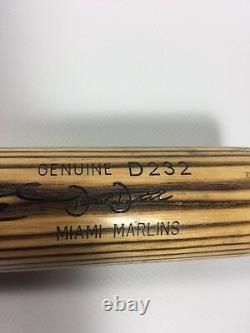 Derek Dietrich Miami Marlins Jeu Utilisé Signé Autographié Bat