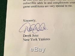 Derek Jeter Jeu Utilisé Batting Glove 2004 Steiner Lettre Signée Par Psa Jeter / Adn