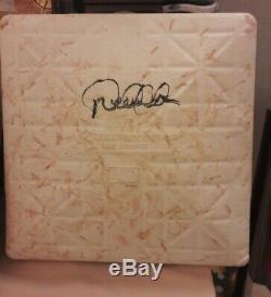 Derek Jeter Ny Yankees Jeu Signé Utilisé 2ème Base 24/09/07 Hit # 2348 Steiner Mlb