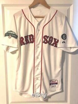 Dustin Pedroia 2012 Boston Red Sox Jeu D'occasion / Équipe Publié Autographed Jersey