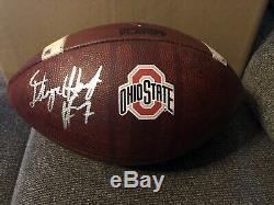 Dwayne Haskins A Signé Témoin Ohio State Jeu Utilisé Football Jsa