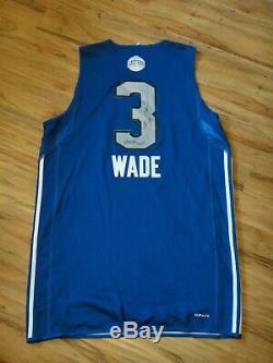 Dwyane Wade Jeu Utilisé Worn 2011 All-star Pratique Jersey Signé Psa / Adn