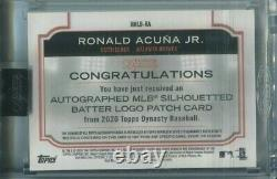 Dynastie Topps 2020 Ronald Acuna Jr. Mlb Logoman Patch Auto 1/1 Braves Game Utilisé