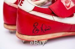 Eric Davis Jeu Anciens Et D'occasion Autographiés Crampons Cincinnati Reds (1988) Jsa