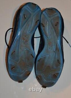Evan Longoria Jeu De Chaussures Usées Et Autographiées (crampons)