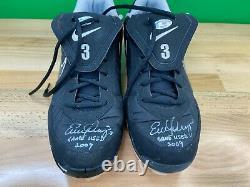 Evan Longoria Jeu Utilisé Et Autographié Chaussures (crampons) Mead Chasky Holo