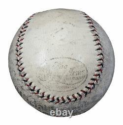 Extraordinaire Babe Ruth Single Signé Le 25 Oct 1924 Jeu Utilisé Baseball Psa Adn