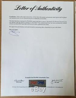 Felix Hernandez Signé Jeu Utilisé Pitching Gant Psa / Adn Complet Lettre Mariners