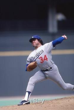Fernando Valenzuela Signé 1983 Los Angeles Dodgers Jeu D'occasion Jersey Mears A10