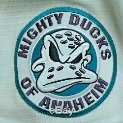 Fin 1990 Paul Kariya Hof Game Signed Ducks D'anaheim Utilisé Hockey Jersey