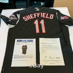 Gary Sheffield 2003 All Star Game Signé Jeu Utilisé Jersey Avec Jsa Et Mears Coa