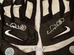 Gary Sheffield Jeu Autographiés Yankees Utilisé Batting Gants Coa Sheff Auth Esm
