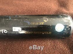 Gary Sheffield Signé Road To 500 Yankees Jeu Utilisé Sam Bat Et Batting Glove