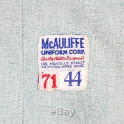 Gene Tenace 1971 Signé Oakland A Vintage Game Utilisé Jersey Jersey Jsa Mears