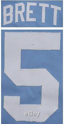 George Brett Kansas City Royals Jeu Utilisé Worn Jersey 1982 Loa Signé