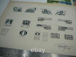 Gi Joe Prototype 1982 Cobra Battle Game Stickers Ron Rudat Signed Rare Vintage