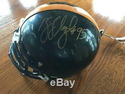 Greg Lloyd Pittsburgh Autographié Steelers Jeu Utilisé Riddell Casque