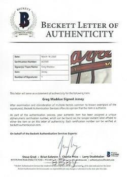 Greg Maddux 2003 Jeu Utilisé Worn Signé Atlanta Braves Jersey Gris Flanelle