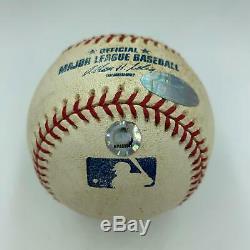 Historique David Ortiz 2004 Alds Marche Off Home Run Signé Jeu Utilisé Baseball Coa